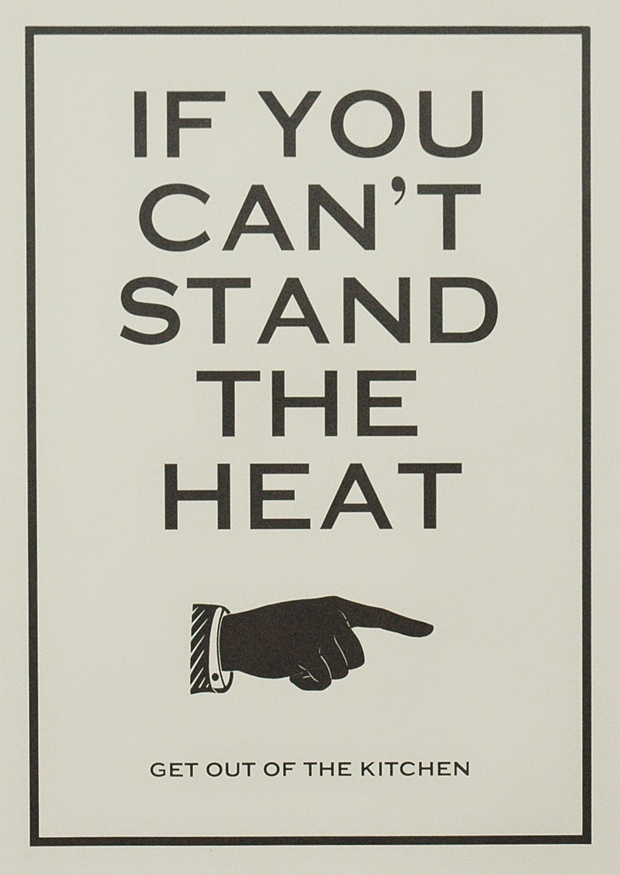 English Idiom If You Can T Stand The Heat Get Out Of The Kitchen World English Blog